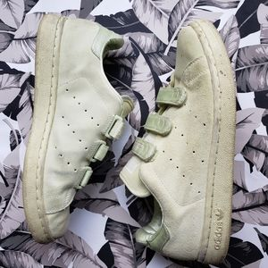 Leather yellow Adidas Stan smith sneakers